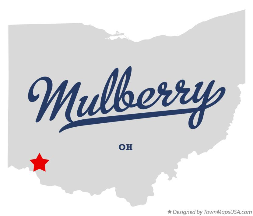 Map of Mulberry Ohio OH