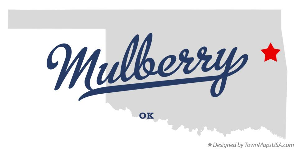 Map of Mulberry Oklahoma OK