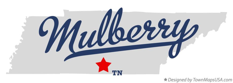 Map of Mulberry Tennessee TN
