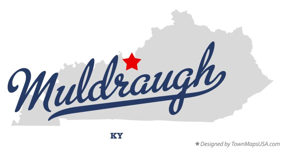 Map of Muldraugh Kentucky KY
