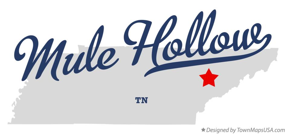 Map of Mule Hollow Tennessee TN