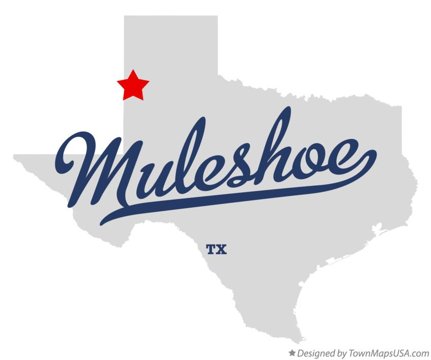 Map of Muleshoe Texas TX