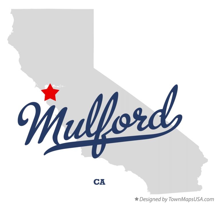 Map of Mulford California CA