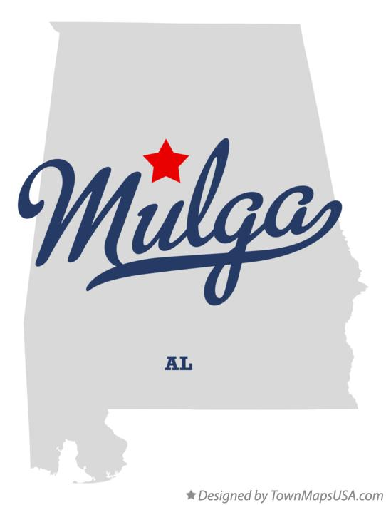 Map of Mulga Alabama AL