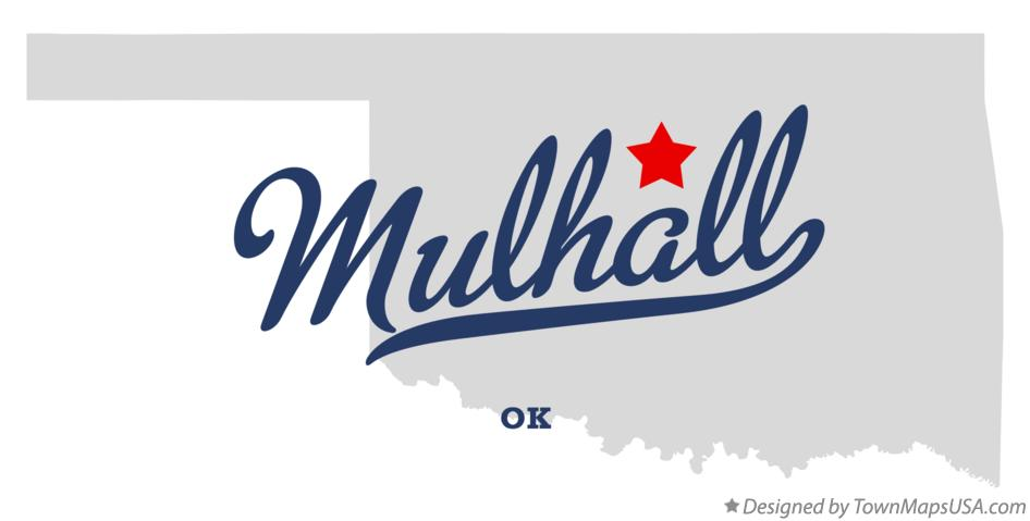Map of Mulhall Oklahoma OK