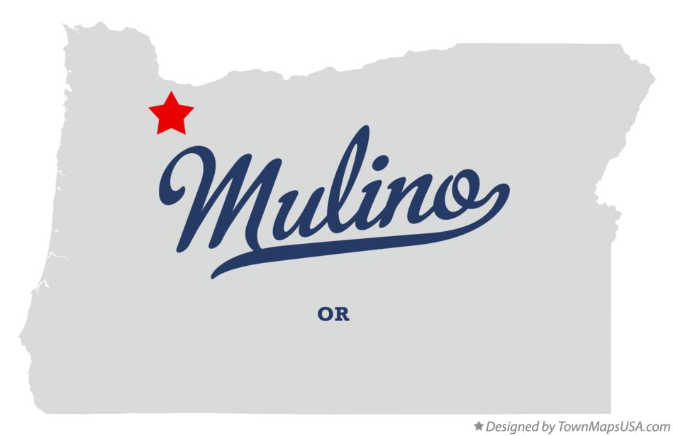 Map Of Mulino Or Oregon