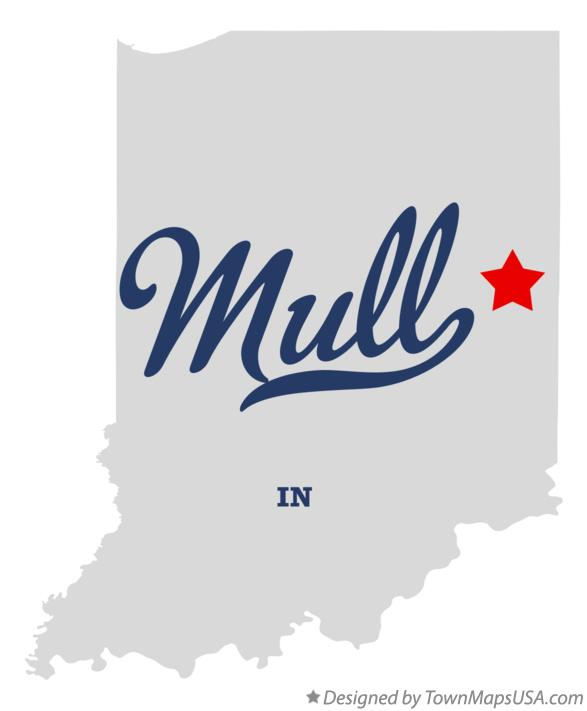 Map of Mull Indiana IN