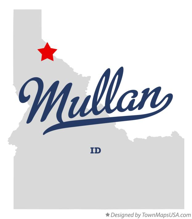 Map of Mullan Idaho ID