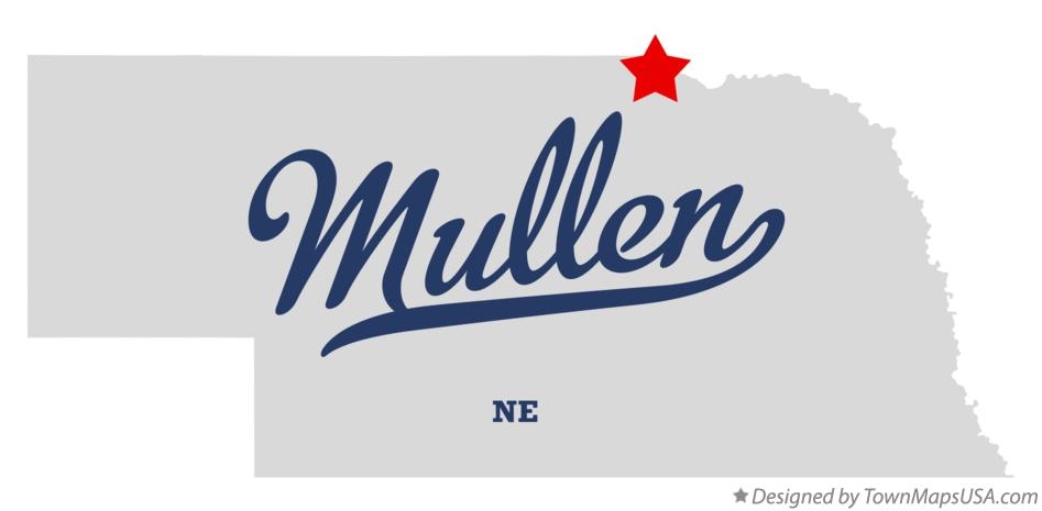 Map of Mullen Nebraska NE