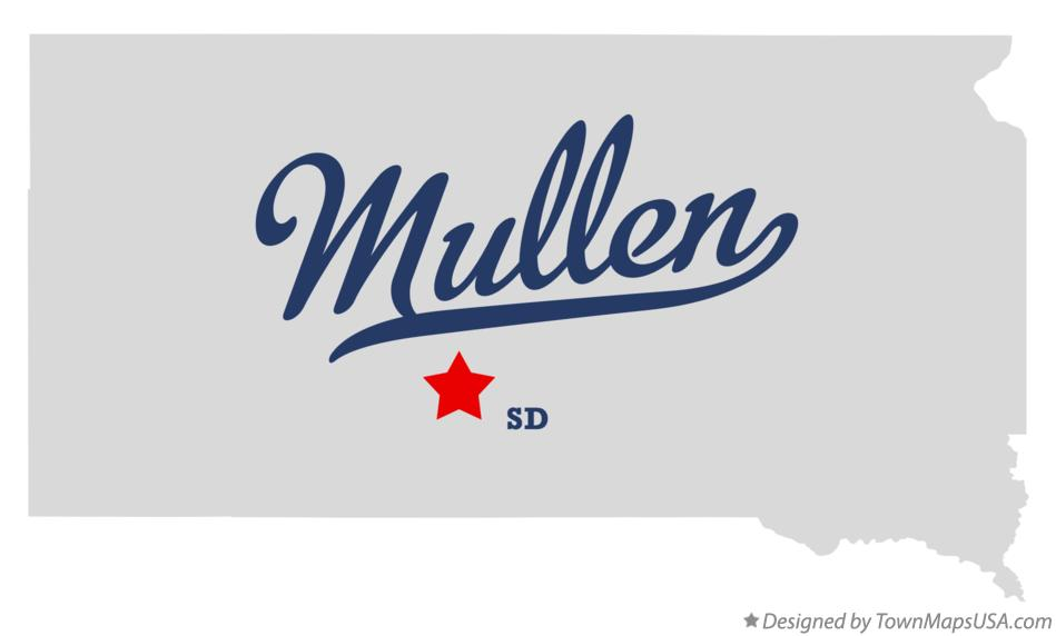 Map of Mullen South Dakota SD