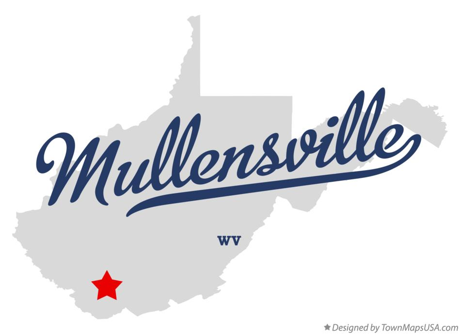 Map of Mullensville West Virginia WV