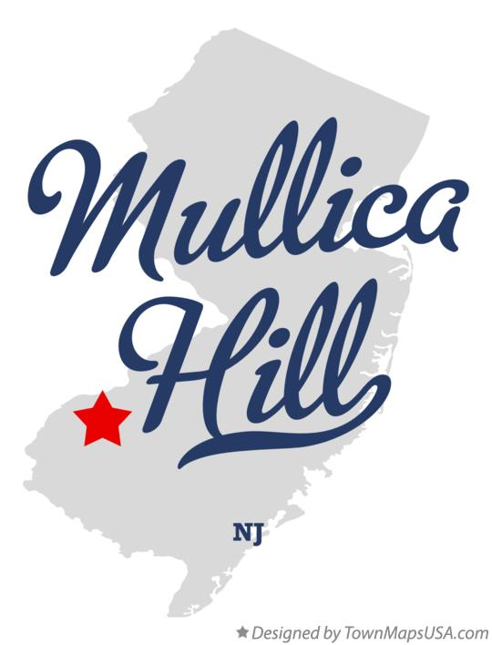 Map of Mullica Hill New Jersey NJ