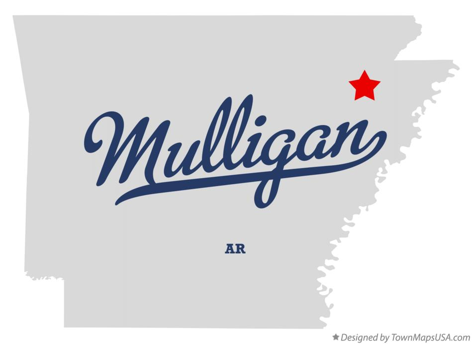 Map of Mulligan Arkansas AR