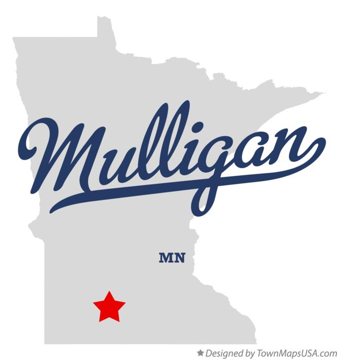Map of Mulligan Minnesota MN