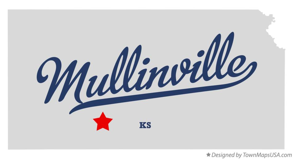 Map of Mullinville Kansas KS