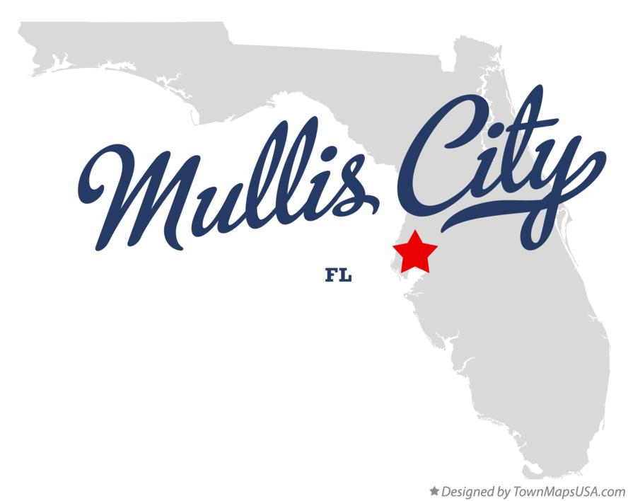 Map of Mullis City Florida FL