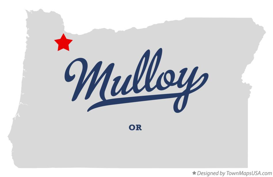 Map of Mulloy Oregon OR