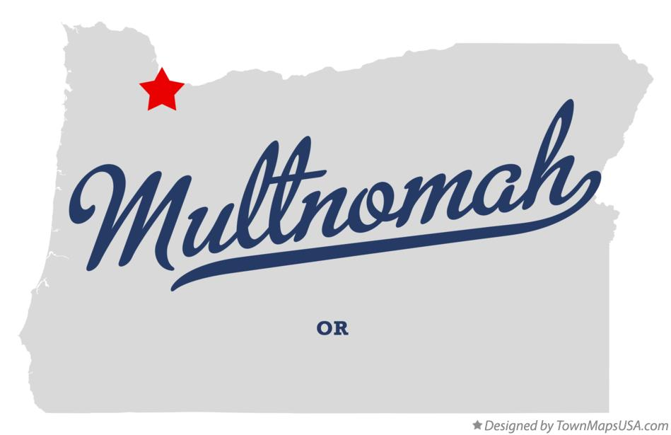 Map of Multnomah Oregon OR