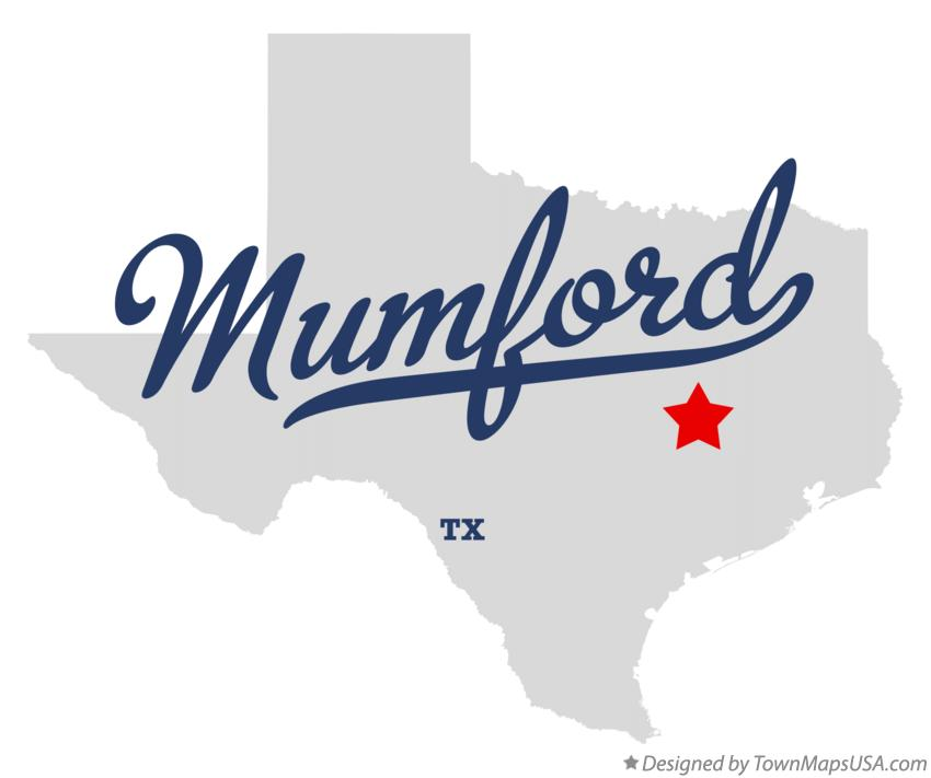 Map of Mumford Texas TX