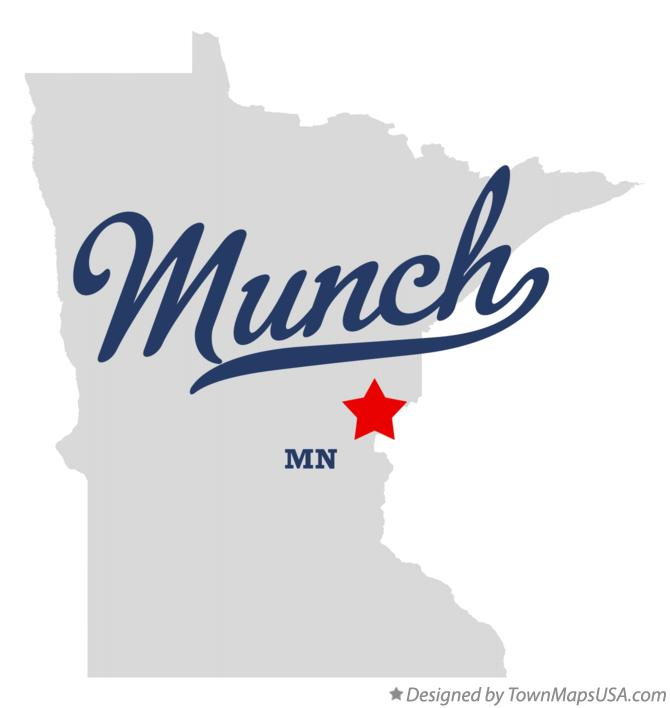 Map of Munch Minnesota MN