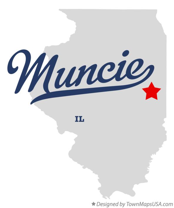 Map of Muncie Illinois IL