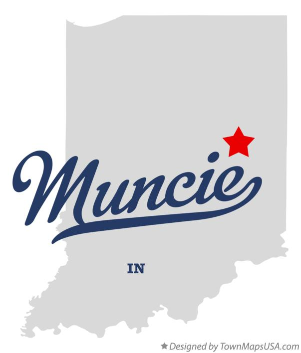 Map of Muncie Indiana IN