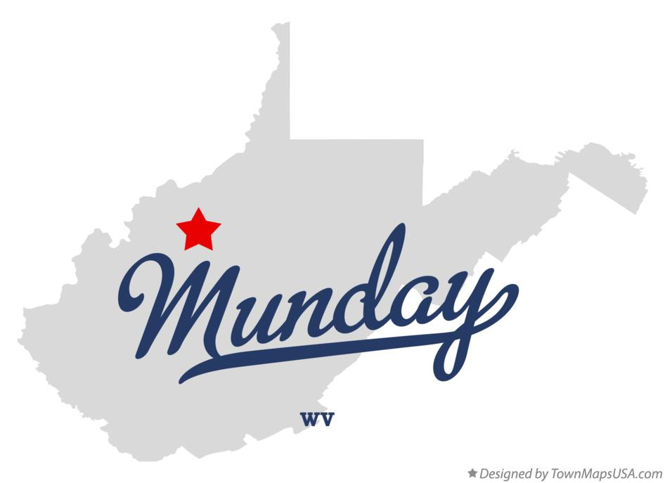 Map of Munday West Virginia WV