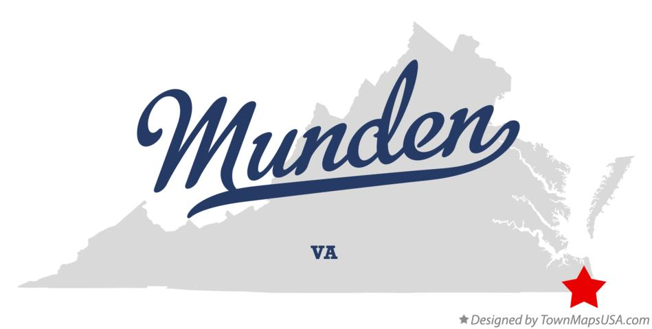 Map of Munden Virginia VA