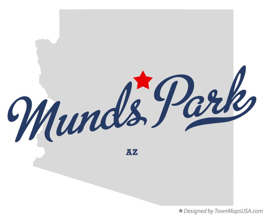 Map of Munds Park Arizona AZ