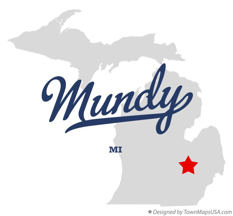 Map of Mundy Michigan MI