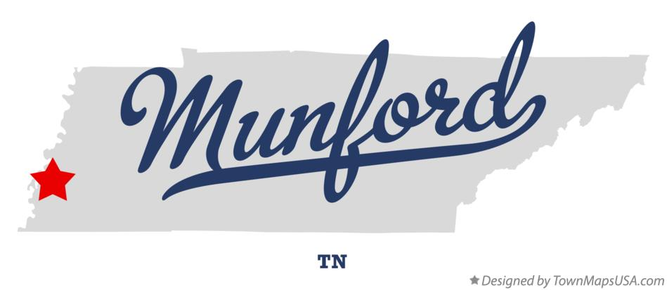 Map of Munford Tennessee TN