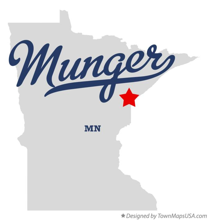 Map of Munger Minnesota MN
