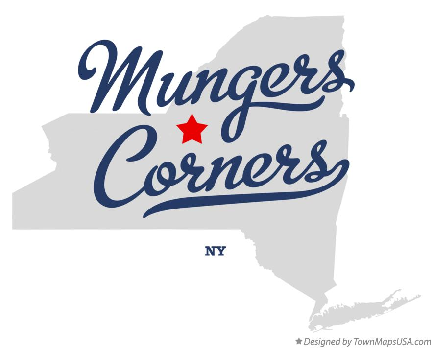 Map of Mungers Corners New York NY