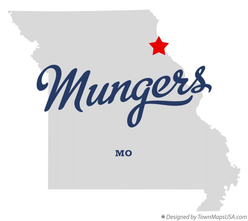 Map of Mungers Missouri MO