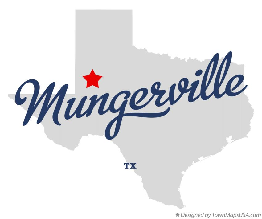 Map of Mungerville Texas TX