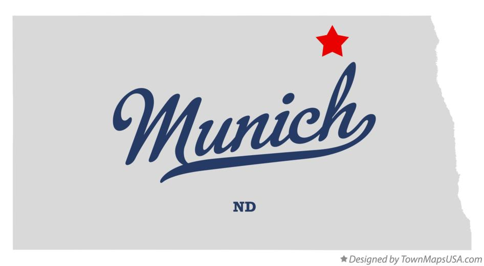 Map of Munich North Dakota ND