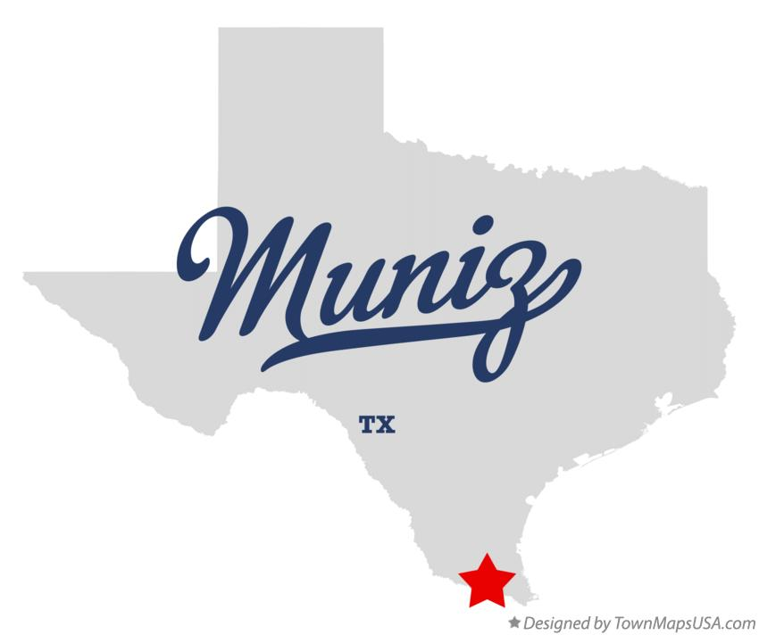 Map of Muniz Texas TX
