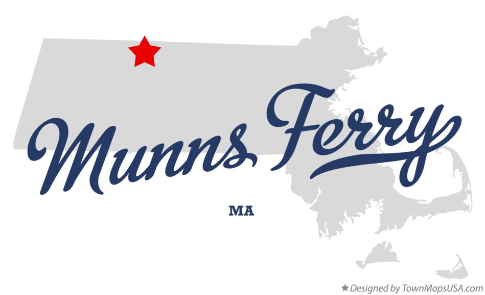 Map of Munns Ferry Massachusetts MA