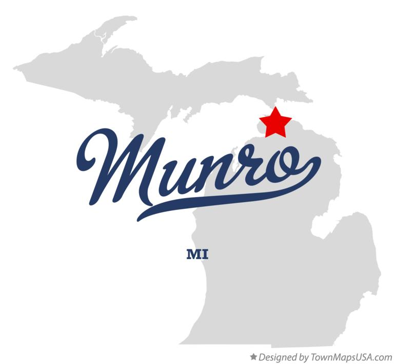 Map of Munro Michigan MI