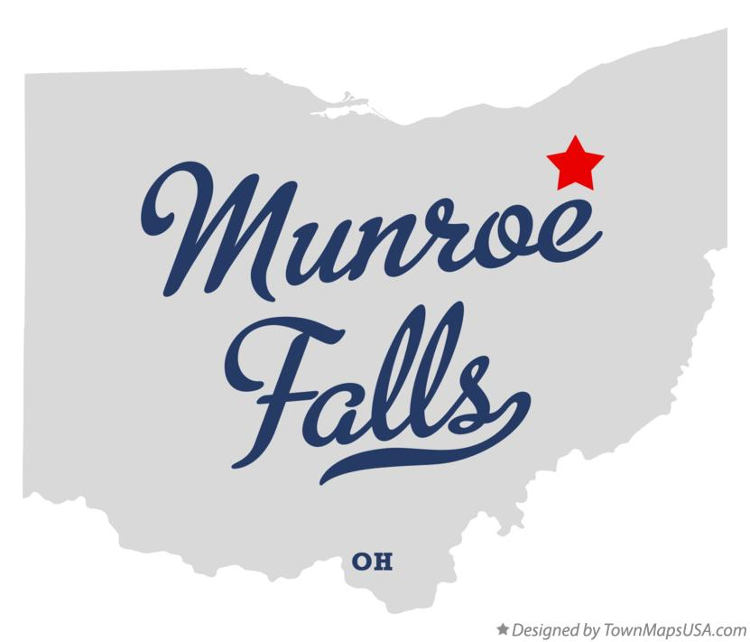 Map of Munroe Falls Ohio OH
