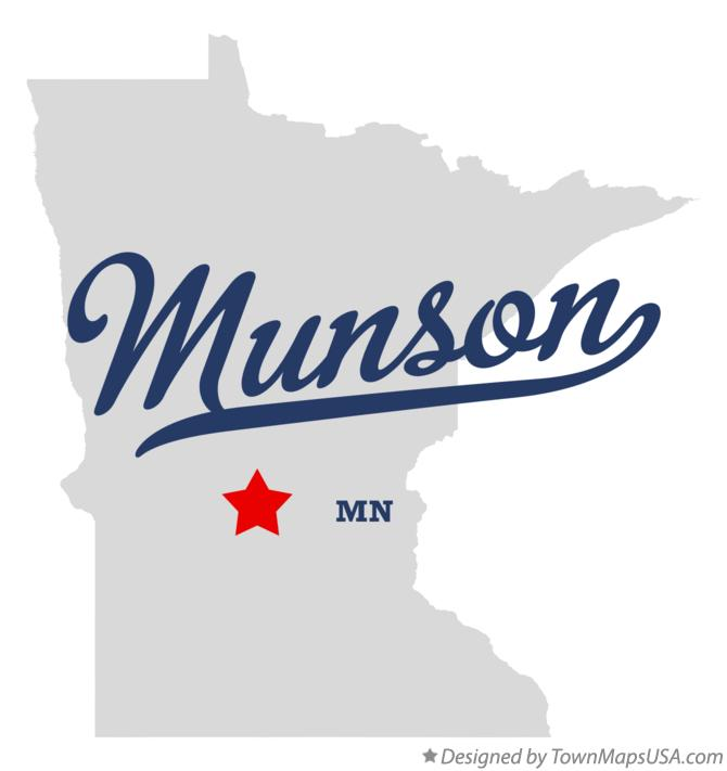 Map of Munson Minnesota MN