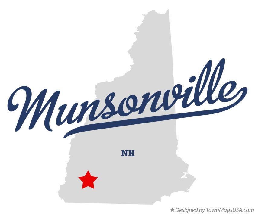 Map of Munsonville New Hampshire NH