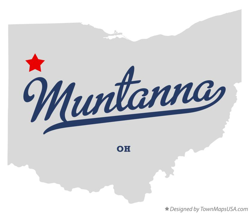 Map of Muntanna Ohio OH