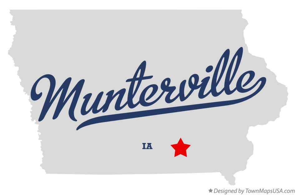 Map of Munterville Iowa IA