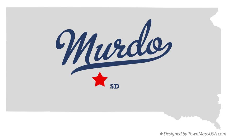 Map of Murdo South Dakota SD