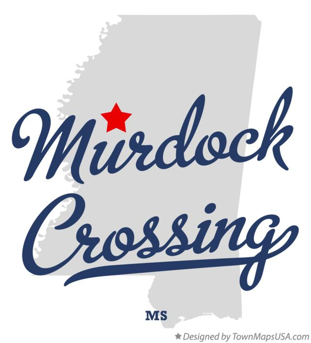 Map of Murdock Crossing Mississippi MS