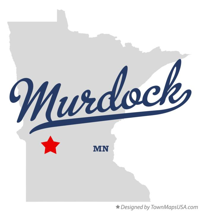 Map of Murdock Minnesota MN
