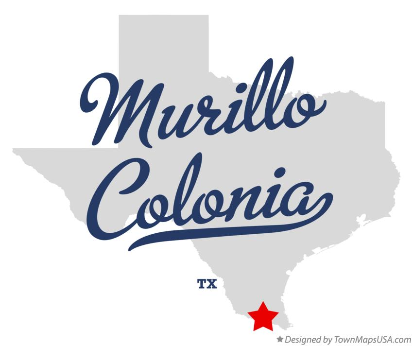 Map of Murillo Colonia Texas TX