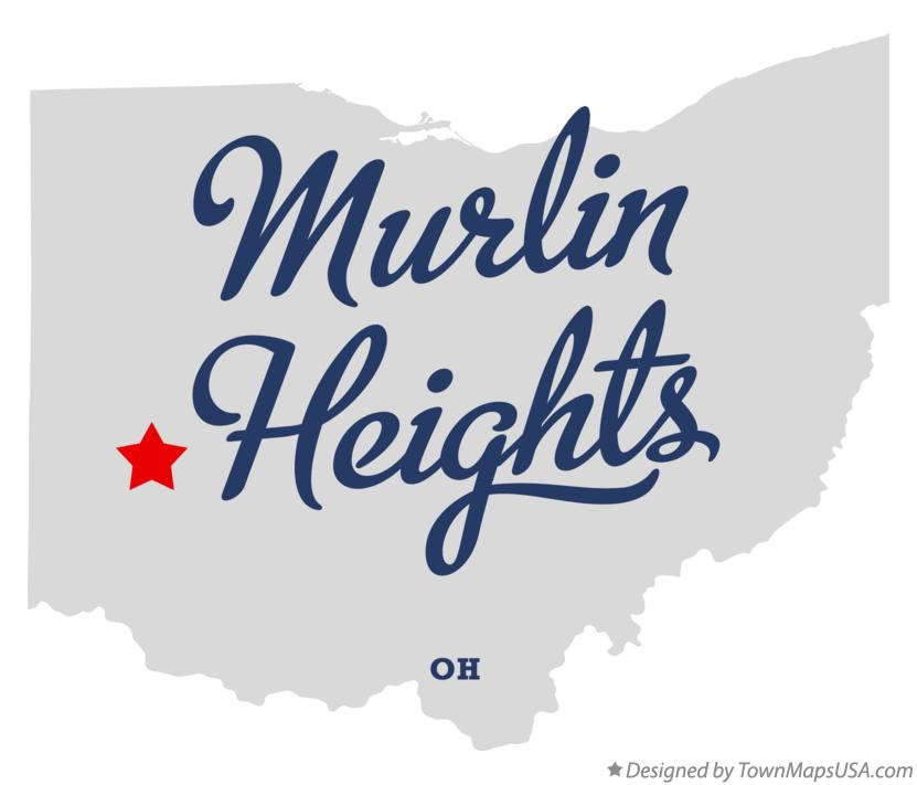 Map of Murlin Heights Ohio OH