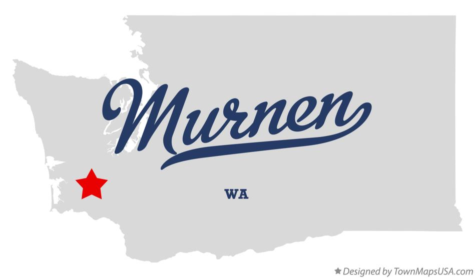 Map of Murnen Washington WA